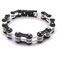 Bracciale catena moto bike bicicletta bracciale del motociclista bracciale da uomo e da donna nel colore del bianco e…
