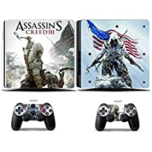 Elton Assassin's Creed III Theme 3M Skin Sticker Cover For PS4 Slim Console And Controllers