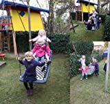 Große Mehrkindschaukel CHALLENGER Farbe wählbar für 4 Kinder, 136 x 66 cm (weiß/blau)