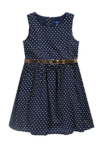 TOM TAILOR Kids Mädchen Dress Patterned Kleid, Blau (Black Iris 3800), 92 (Herstellergröße: 92/98)