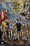 El Greco – The Martyrdom of Saint Mauritius by El Greco (1541-1614) Spain Madrid El Escorial Artistica di Stampa (45,72 x 60,96 cm)