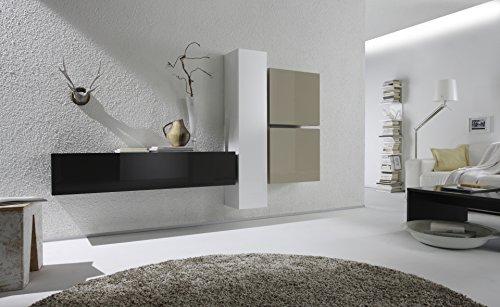 Würfelelement 1-türig Box, 57 x 51 x 31 cm, ecru hochglanz