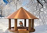 Vogelfutterhaus im exclusiven dänischen Design ölbehandelte Eiche mit Kupferdach- Vogelhaus Vogelstation Futterhaus Vogeläuschchen Futterhaus Vogelfutterstation