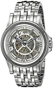 Bulova Men's 'Kirkwood' Swiss Automatic Stainless Steel Casual Watch, Color:Silver-Toned (Model: 63A001)