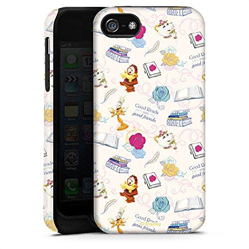 Apple iPhone X Silikon Hülle Case Schutzhülle Die Schöne und das Biest Disney Madame Pottine Von Unruh Lumière Muster Tough Case matt
