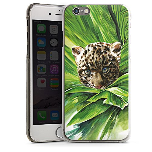 Apple iPhone 4 Housse Étui Silicone Coque Protection Bébé léopard Jungle Prédateur CasDur transparent
