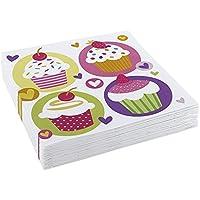 Amscan 33 centimetri Cupcake 20 Luncheon Tovaglioli - Giardino Luncheon Tovaglioli