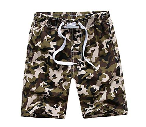 BOLAWOO Kurze Hose Jungen Sommer Strand Badehose Camouflage Vintage Hippie Casual Strandhose Badeshorts Shorts (Jungen Vintage Shorts)