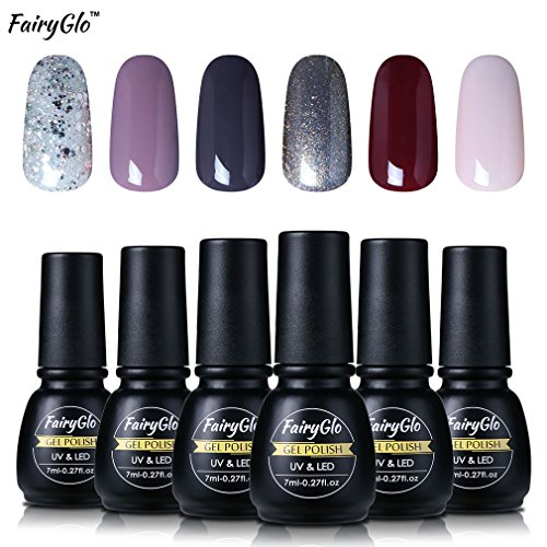 fairyglo-6-pcs-uv-led-gel-nail-polish-soak-off-manicure-varnish-nail-art-starter-kit-beauty-high-glo