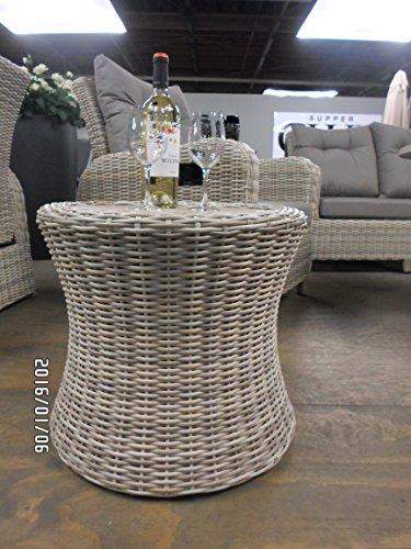 Supper Club Table Lounge série Soho Beach en polyrotin avec Table spraystone 51 cm Haute Qualité