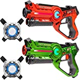 Light Battle Active Lasergame Set - 2X laserpistole (orange, grün) + 2 Weste - LBAPV22212