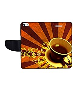 KolorEdge Printed Flip Cover For Apple IPhone 5 Multicolor - (43KeMLogo11523IPhone5)