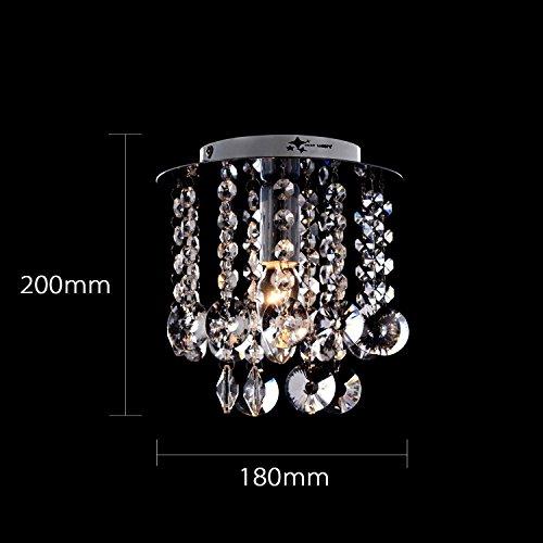 moderne 1 Stück-Kristall-Deckenlampe, einfacher Kristallleuchter für Verbindungsgang, stilvoller Kristallleuchter für Korridor - 4
