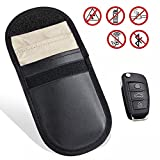 HowiseAcc Car Key Signal Blocker,Keyless Entry Fob Guard Signal Blocking Bag,Anti-tracking Anti-spying Cell Phone GPS Rfid Signal Blocker Pouch,Credit Card Protection Case,WIFI/GSM/LTE/NFC/RFID