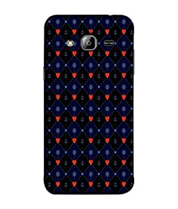 PrintVisa Designer Back Case Cover for Samsung Galaxy On5 (2015) :: Samsung Galaxy On 5 G500Fy (2015) (Anchor In Blue And Red Design)