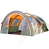 Skandika Kemi 4 - 16050 - Tente tunnel familiale - 4 personnes - 480x340 cm (Olive/Orange)