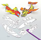 Baker Ross Dragon Colour - in Gliders (Pack of 6) for Kids to Make Personalise and Play
