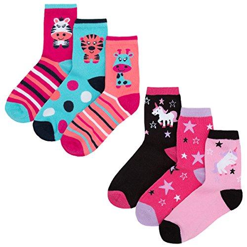 Zest Girls Cotton Rich Character Design Socks