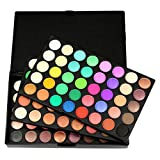LITTHING Palette de Fard à Paupière de 120 Couleurs Set Cosmétique Matte Shimmer Durable Waterproof Sweatproof Professionelle