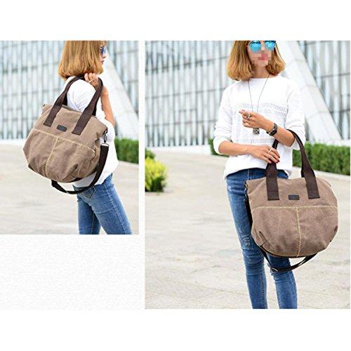 Mode Trends Segeltuchtaschen Einfach Wild Tragetaschen Handtaschen Schultertaschen Freizeit Persönlichkeit Messenger Bag Brown