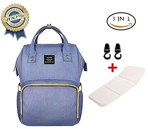Baby Wickeltasche Reise Rucksack,Isolierte Tasche, Wasserdicht Stoffe, Multifunktional, Passform für Kinderwage Babypflege, Große Kapazität Modern Einzigartig Tragbar Handtasche Organizer(lila)