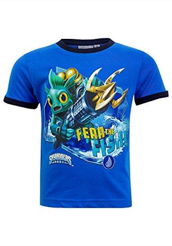 Offizielles Skylanders Jungen Kurzarm Kontrast Trim T-Shirt Gr. Alter 3, Blue / Navy