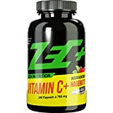 ZEC+ Vitamin C HOCHDOSIERT 500mg | mit naturbelassenem Hagebuttenextrakt | stärkt das Immunsystem | kann Skorbut vorbeugen | 240 Kapseln