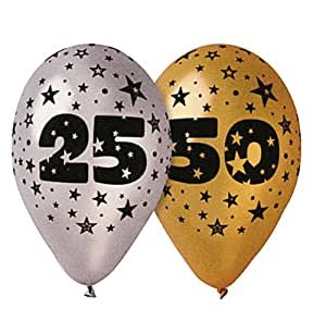10 Ballons Or Noces D'Or 50 ans