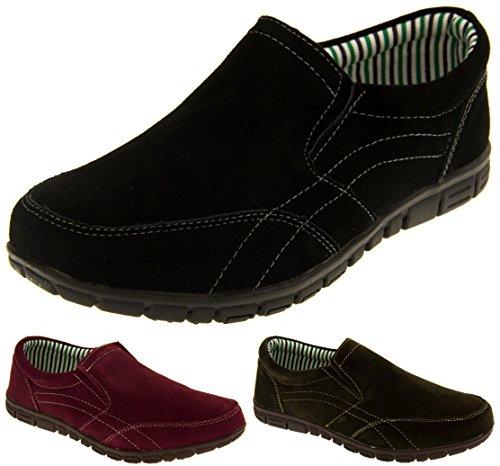 Coolers BF720 Cuir Daim Décontracté Chaussures de Sport Mocassins Femmes