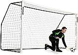 QUICKPLAY PRO Match Fold-Away Football Goal [Single] | Sizes: 6x4ft / 8x5ft / 12x6ft | Match Standard Goals with 2YR WARRANTY