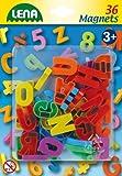 Lena 65745 - Magnet Großbuchstaben Set, Lernspielset mit 36 Buchstaben je ca. 3 cm groß, Magnetbuchstaben Set für Kinder ab 3 Jahre, magnetische Großbuchstaben für Magnettafel, Buchstabenmagnete
