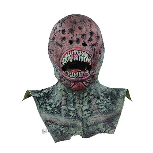 Kostüm Realistische - QHJ Halloween Kostüm Party Maske Scary Props Relaxed Realistische Masken Cosplay Halloween Kleid Ghost Horror Helloween Kostüm Party (B)