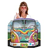 Party Deko Pappaufsteller Hippie Bus bunt 94x64cm Einheitsgröße