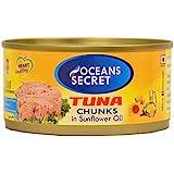Oceans Secret Canned Tuna in Sunflower Oil, 180g