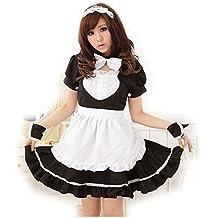 Dopobo Lolita maid cosplay costume,sirvienta criada mujer Lolita blanco y negro