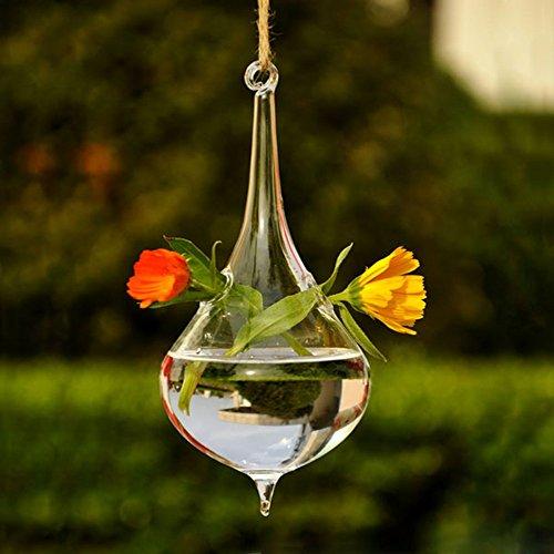 Kungfu Mall acqua, da appendere, a forma di vaso di fiori in vetro decorativa - Hanging Flower Vase