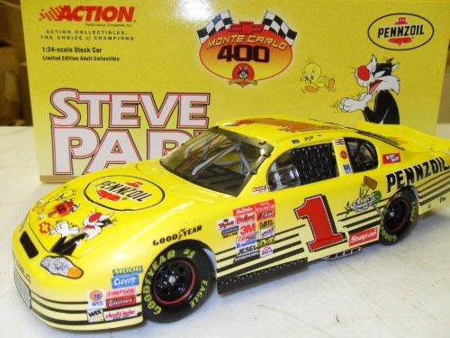 steve-park-pennzoil-looney-tunes-monte-carlo-400-2001-1-action-racing-124-die-cast-stock-car-by-nasc