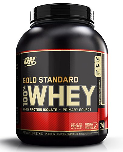 Description Product Description  The sports nutrition industry's best-selling whey protein powder represents the gold standard of protein quality. Made in GMP compliant company owned and operated facilities in the U.S.A., Gold Standard 100% Whey uses pure Whey Protein Isolates as the primary ingredient. Combined with ultra-filtered whey protein concentrate, each serving provides 24 grams of all-whey protein and 5.5 grams of naturally occurring Branched Chain Amino Acids (BCAAs) which are prized by athletes for their muscle building qualities. With more than 20 tempting flavors to choose from, ON's Gold Standard 100% Whey gives you plenty of ways to keep workout recovery interesting.