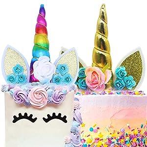 BESYZY 2pcs Unicornio Cake Topper