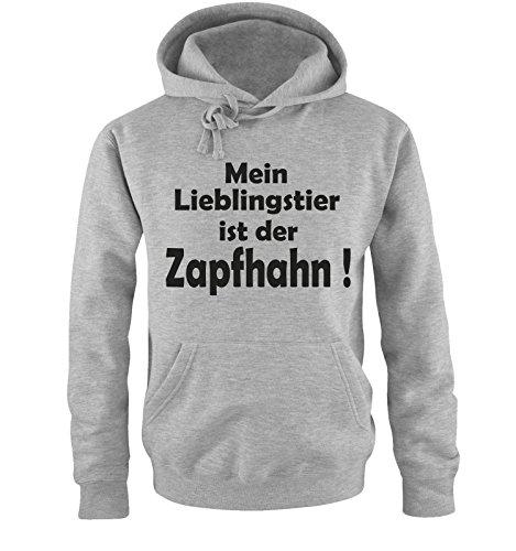 Mein LIEBLINGSTIER ist der ZAPFHAHN! - Herren Hoodie Grau / Schwarz