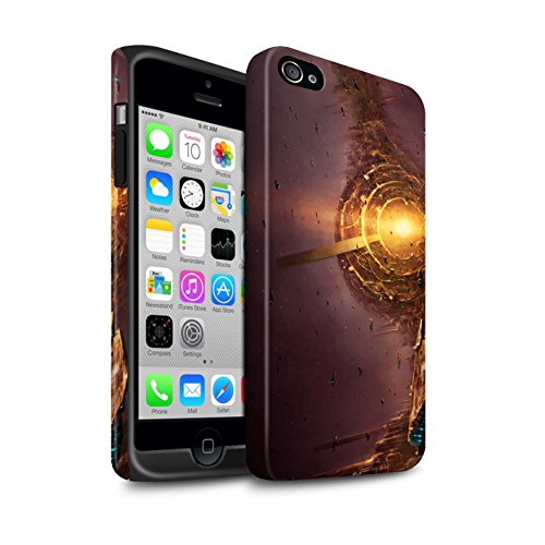 Offiziell Chris Cold Hülle / Matte Harten Stoßfest Case für Apple iPhone 4/4S / Pack 6pcs Muster / Galaktische Welt Kollektion Raumfahrzeug
