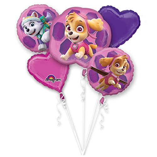 Patrol Paw Kostüm Dog - amscan 3482801 Bouquet Paw Patrol Skye & Everest Folienballon, Mehrfarbig, 0-999 Years