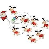 WeRChristmas LED Babbo Natale e renne in legno Light string–multicolore, set di 11