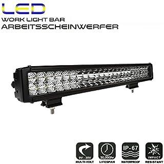 AFTERPARTZ LED Arbeitsscheinwerfer Bar Reflektor-Lichtschale OSRAM Chips 15840LM Combo Scheinwerfer Arbeitslicht (23