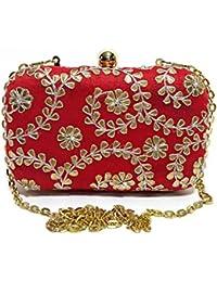 Arisha Kreation Co Red Clutch