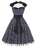damenkleider elegant festlich 50er jahre petticoat kleid swing kleid XL BP031-2