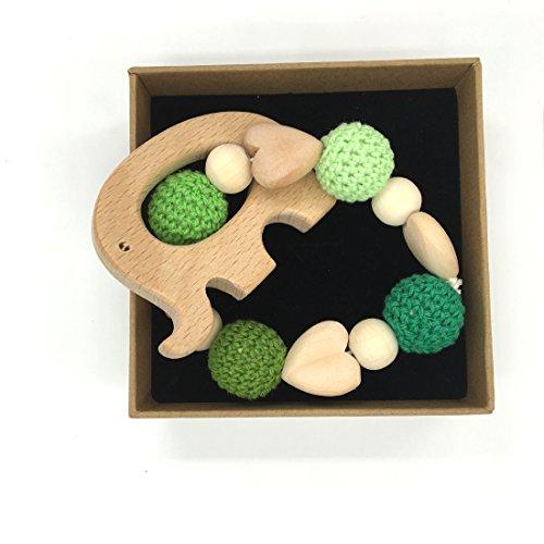 coskiss-cuore-di-legno-holder-crochet-baby-bird-elephant-pinguino-gufo-tortoise-dentizione-catena-du