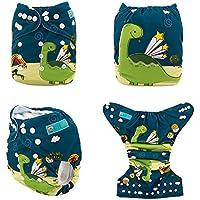 Alvababy Baby's Microseude Pocket Diaper with Microfiber Insert Ducks (Multicolour)