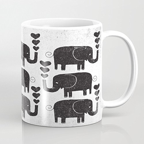 Qemingyer Elefantes Tazas Mejor Funny Regalos Sarcastic ml Presente Hija Taza de café para Mujer Taza de cerámica Tazas de café de Regalo café té Cacao Taza de café 11oz