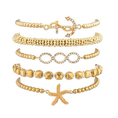 lux-accessories-braccialetto-dellamicizia-con-perline-di-zucchero-motivo-nautico-stella-marina-ancor